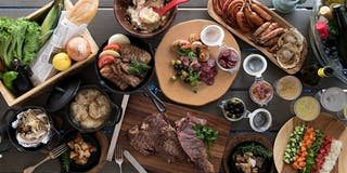 SUMMER  DINNER フルコースのバーベキューディナー