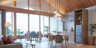 【 Living Room 】大きな窓の開放感、リゾート感あふれるリビング